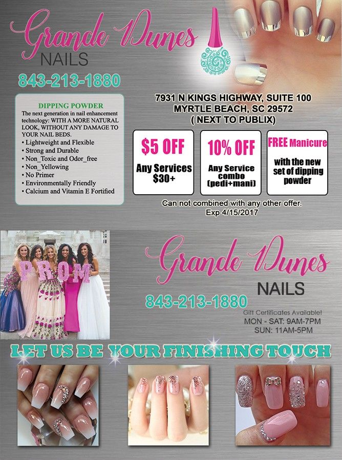 Promotions – Grande Dunes Nails in Myrtle Beach – (843) 213-1880